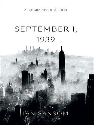 cover image of September 1, 1939