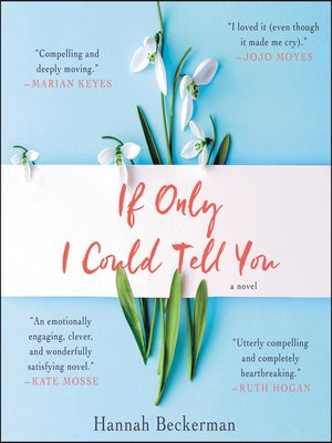 cover image of If Only I Could Tell You