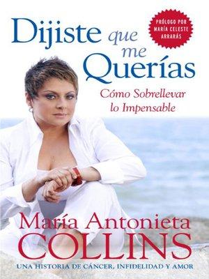 cover image of Dijiste Que Me Querias