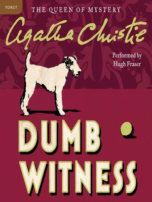 cover image of Dumb Witness