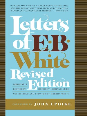 cover image of Letters of E. B. White