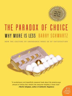 cover image of The Paradox of Choice