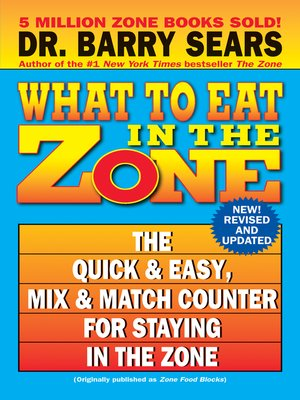 cover image of What to Eat in the Zone