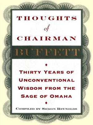 cover image of Thoughts of Chairman Buffett