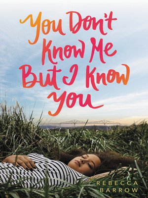 cover image of You Don't Know Me But I Know You