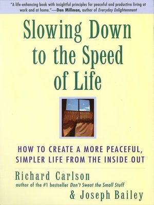 cover image of Slowing Down to the Speed of Life