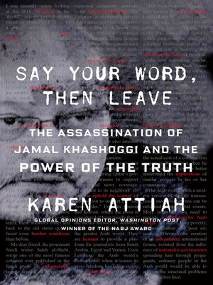 cover image of Say Your Word, Then Leave