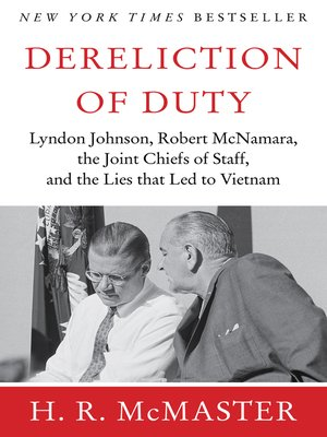 cover image of Dereliction of Duty