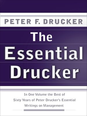 cover image of The Essential Drucker