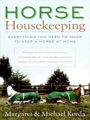 cover image of Horse Housekeeping