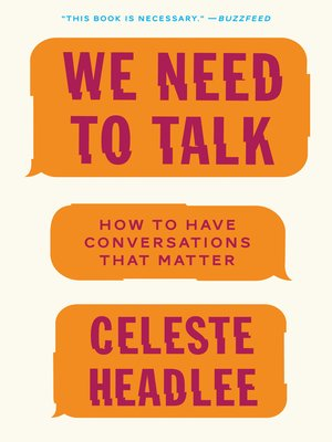 cover image of We Need to Talk