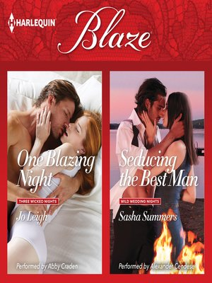 cover image of One Blazing Night & Seducing the Best Man