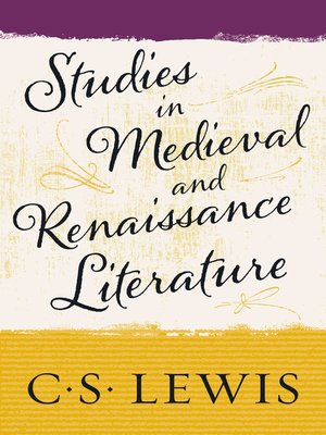 cover image of Studies in Medieval and Renaissance Literature