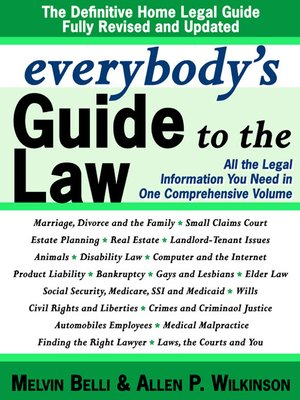 cover image of Everybody's Guide to the Law