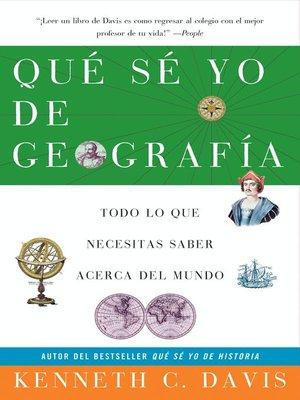 cover image of Que Se Yo de Geografia