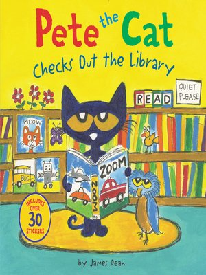 cover image of Pete the Cat Checks Out the Library
