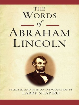 cover image of The Words of Abraham Lincoln