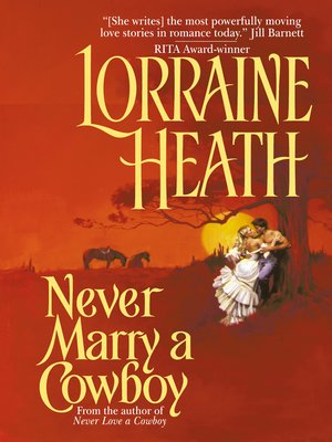 cover image of Never Marry a Cowboy
