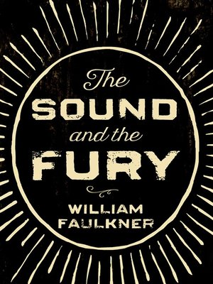 cover image of The Sound and the Fury