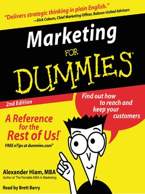 marketing research for dummies pdf