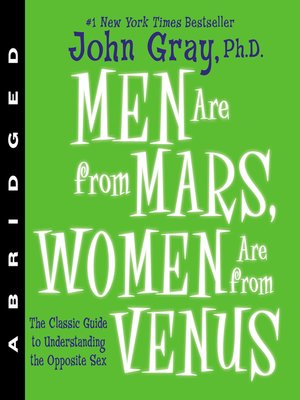 cover image of Men Are from Mars, Women Are from Venus