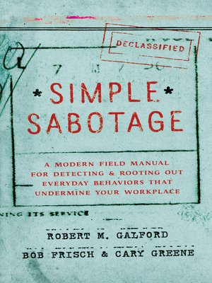 cover image of Simple Sabotage