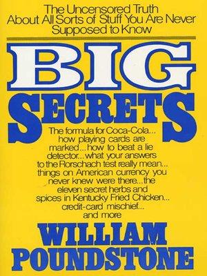 cover image of Big Secrets