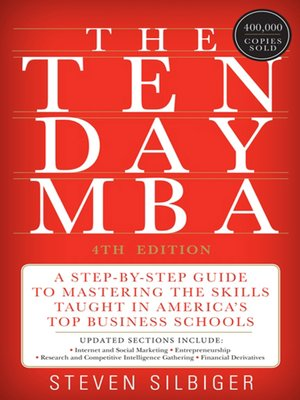 cover image of The Ten-Day MBA 4th Ed.