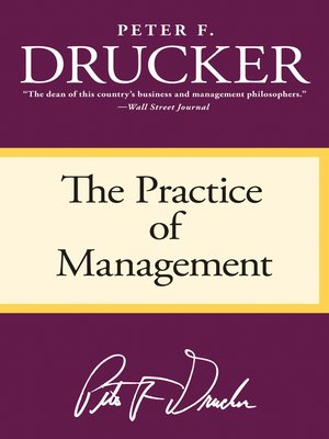 cover image of The Practice of Management