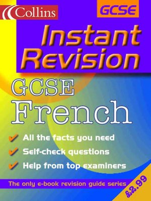 cover image of Instant Revision: GCSE French