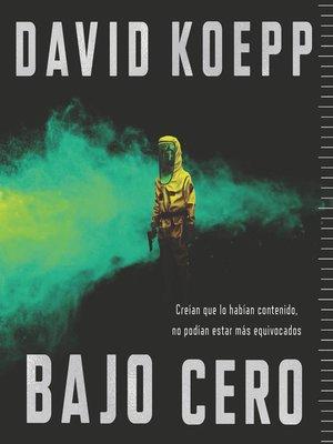 cover image of Cold Storage \ Bajo cero (Spanish edition)