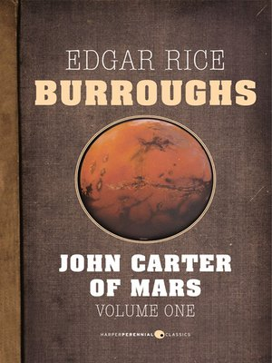 cover image of John Carter of Mars, Volume One