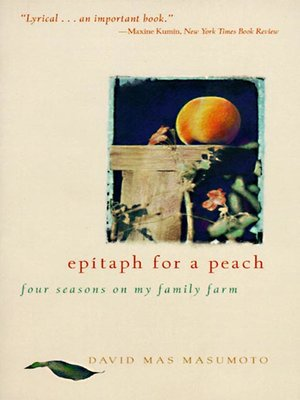 cover image of Epitaph for a Peach