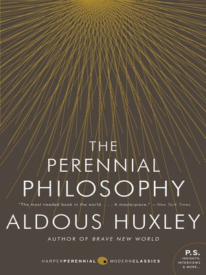 cover image of The Perennial Philosophy