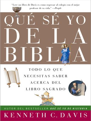 cover image of Que Se Yo de la Biblia
