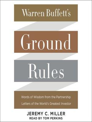 cover image of Warren Buffett's Ground Rules