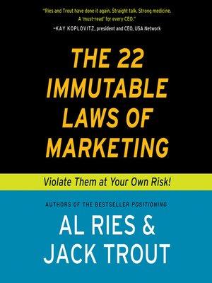 22 immutable laws of marketing epub