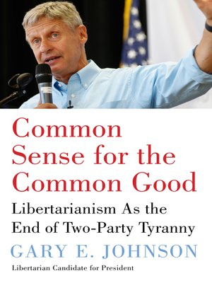 cover image of Common Sense for the Common Good
