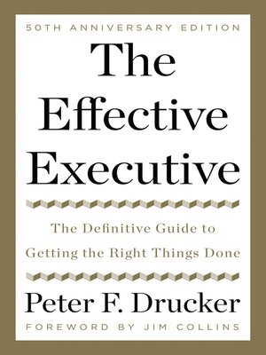 the effective executive peter drucker epub