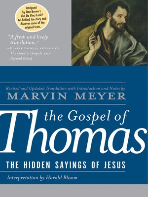 cover image of The Gospel of Thomas