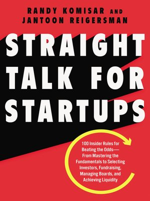cover image of Straight Talk for Startups