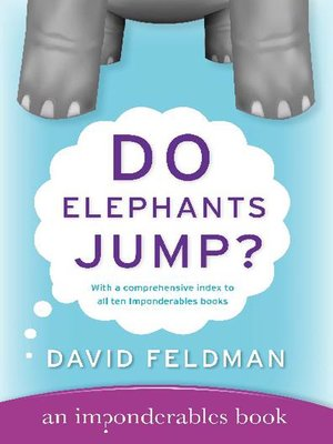 cover image of Do Elephants Jump?