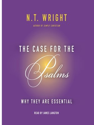 cover image of The Case for the Psalms