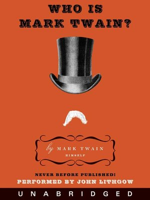 cover image of Who Is Mark Twain?