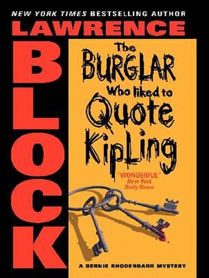 cover image of The Burglar Who Liked to Quote Kipling