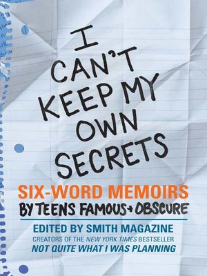 cover image of I Can't Keep My Own Secrets
