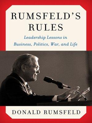 cover image of Rumsfeld's Rules
