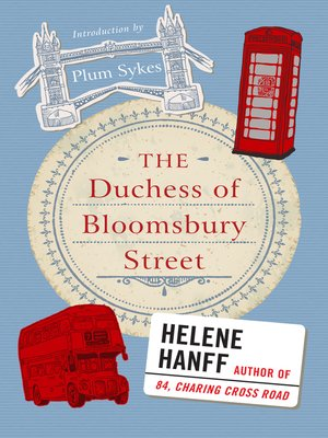 cover image of The Duchess of Bloomsbury Street
