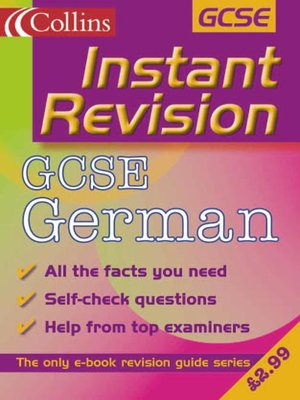 cover image of Instant Revision: GCSE German