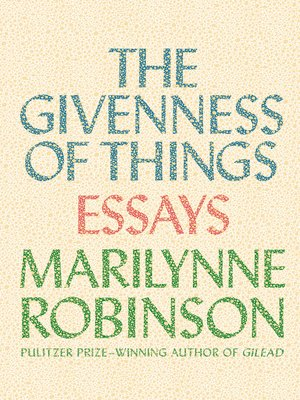 cover image of The Givenness of Things